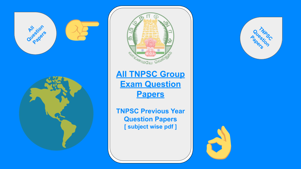 TNPSC Previous Year Question Papers Subject Wise PDF