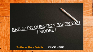RRB NTPC QUESTION PAPER 2021